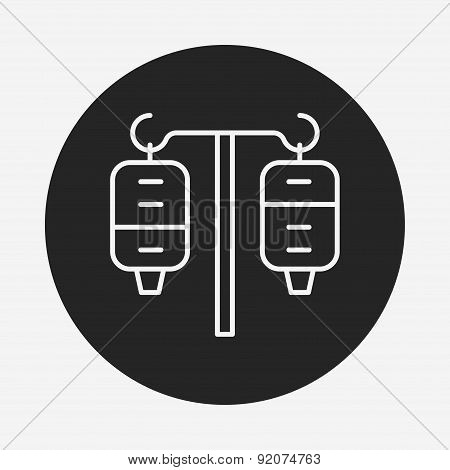 Medical Drip Line Icon