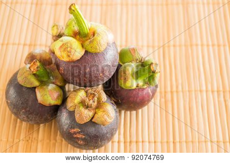 Group Of Fresh Sweet Mangosteens