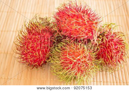 Group Of Fresh Sweet Rambutans