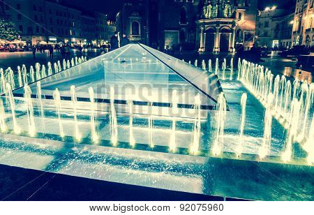 Fountain in Krakow
