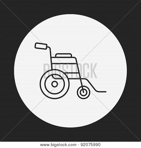 Wheelchair Line Icon