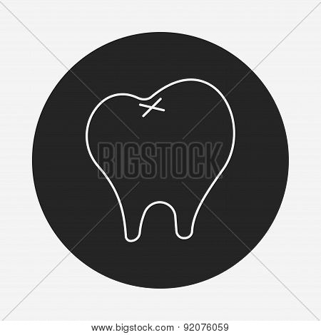 Dentist Tooth Line Icon