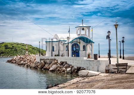Chapel on a small greek island