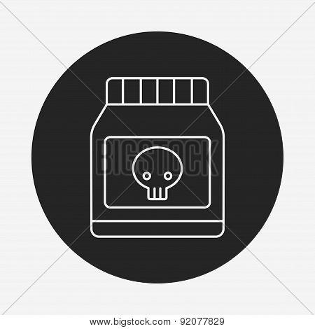 Poison Line Icon