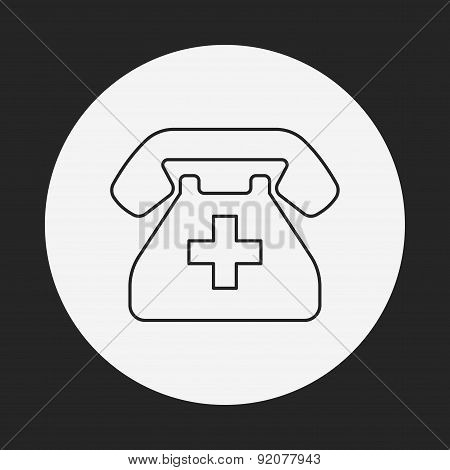 Emergency Call Line Icon