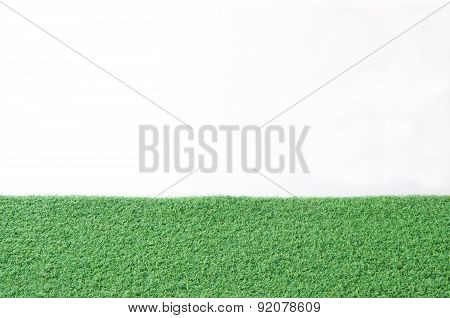 Green Grass Turf Isolated On White Background;