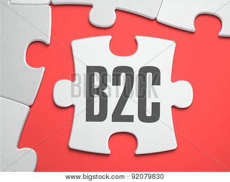 B2C - Puzzle On The Place Of Missing Pieces.