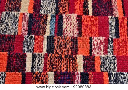 Striped Hand Woven Colorful Ribbons Background
