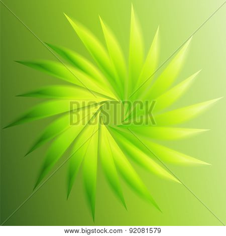 Swirl abstract green background template