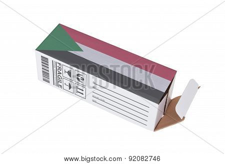 Concept Of Export - Product Of Sudan