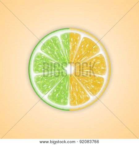Background with citrus fruits