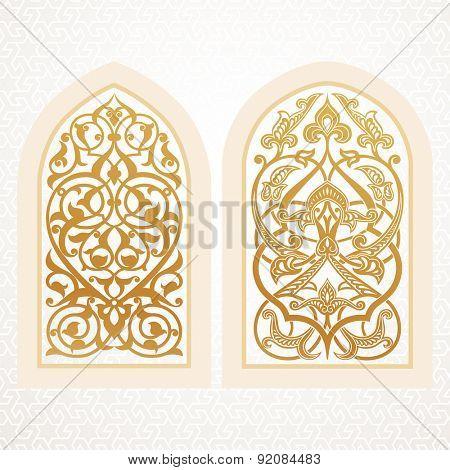 Vector windows in arabic style