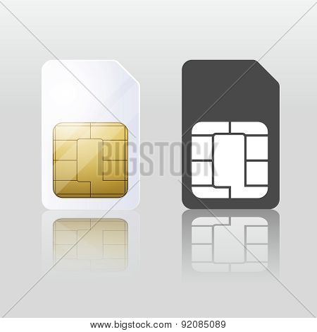 Sim card. Mobile telecommunication