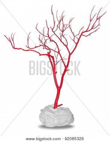 Dead Red Tree