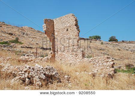 Derelict building, Halki island