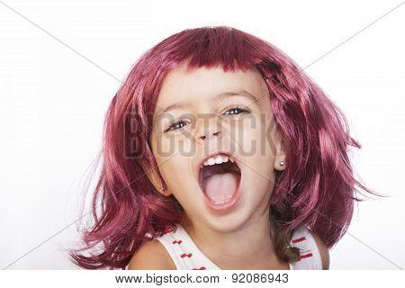 Girl And Wig