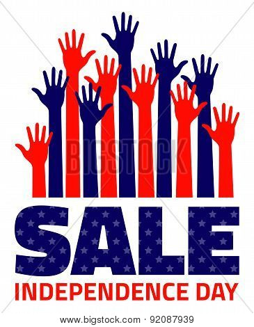 Fourth july American Independence Day Sale
