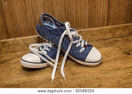 Canvas Sneakers Blue