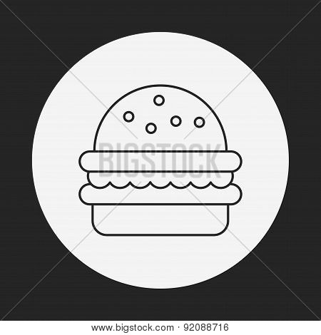 Hamburger Line Icon