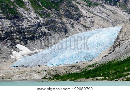 Nigardsbreen Glacial Arm At Jostedalsbreen National Park, Norway