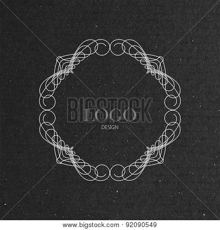 ornate frame on cardboard texture