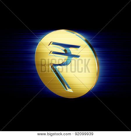 Indian Rupee Symbol Image In The Form Of Coins