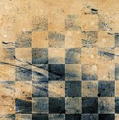 pic of chessboard  - Grungy dotted chessboard background with stains and scratches - JPG