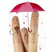 image of fingering  - Conceptual family finger art - JPG