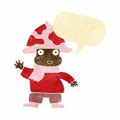 image of fairy-mushroom  - cartoon mushroom man with speech bubble - JPG