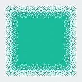 picture of doilies  - Ornamental lace pattern doily square border - JPG