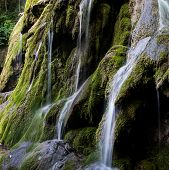 pic of backwoods  - Waterfall Landscape in the Mountains - JPG