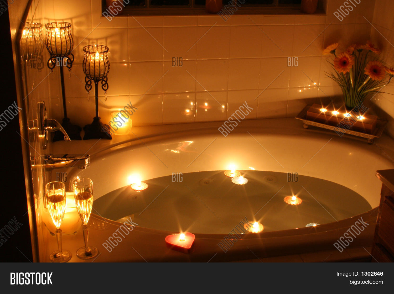 candlelight bath image photo bigstock. Black Bedroom Furniture Sets. Home Design Ideas