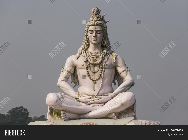 RISHIKESH INDIA - CIRCA NOVEMBER 2011 - the sculpture of Hindu god ...