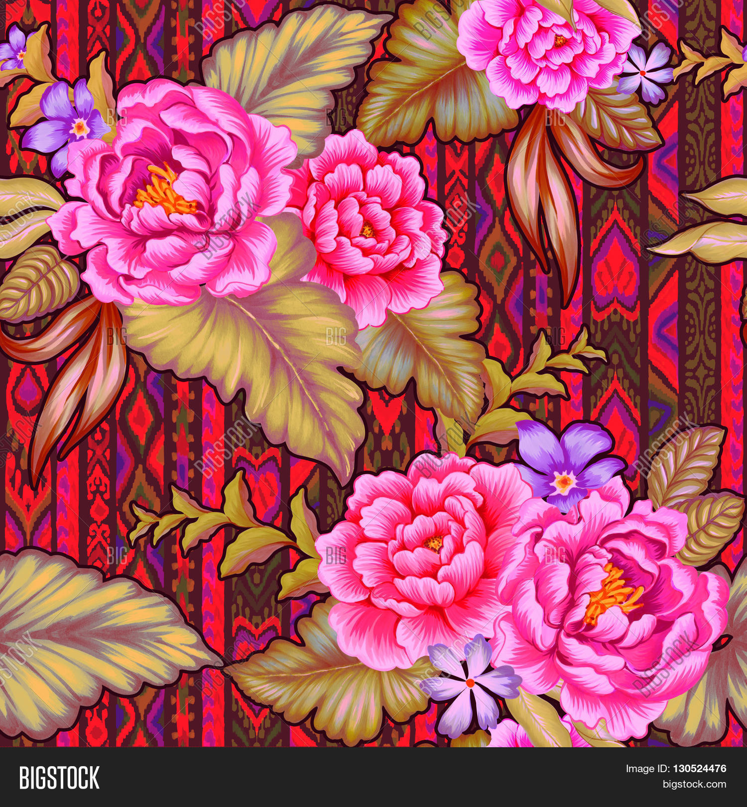 colorful mexican floral pattern image amp photo bigstock