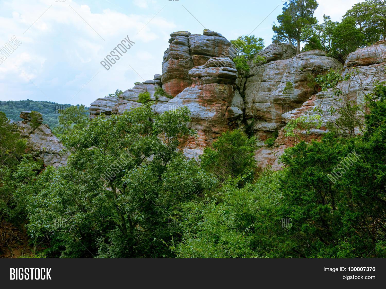 Bizarre Cliffs Sandstone Garden Image Photo Bigstock