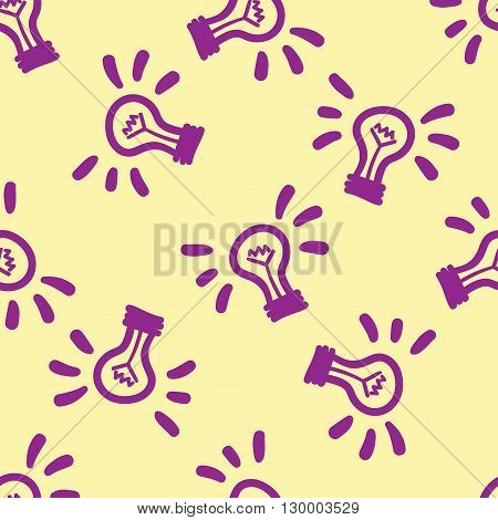 Vector Lamps Seamless Pattern. Modern Texture. Repeating Endless Abstract Hand Drawn Background