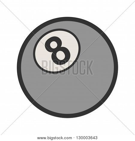 Snooker, table, ball icon vector image. Can also be used for games entertainment. Suitable for web apps, mobile apps and print media.