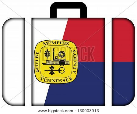 Flag Of Memphis, Tennessee. Suitcase Icon, Travel And Transportation Concept