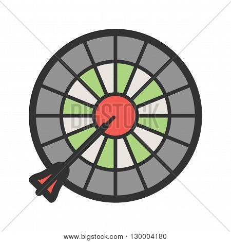 Dart, board, target icon vector image. Can also be used for games entertainment. Suitable for web apps, mobile apps and print media.