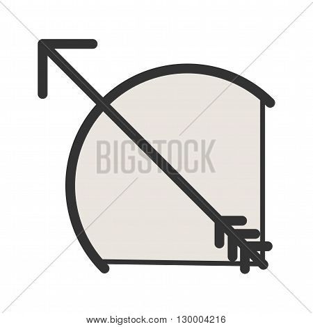 Archery, arrow, bow icon vector image. Can also be used for games entertainment. Suitable for web apps, mobile apps and print media.