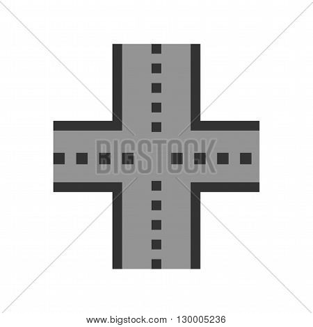 Highway, road, link icon vector image. Can also be used for maps navigation. Suitable for mobile apps, web apps and print media.