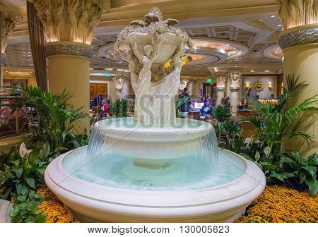LAS VEGAS - April 13 : The Caesars Palace hotel and casino interior on April 13 2016 in Las Vegas. Caesars Palace is a luxury hotel and casino located on the Las Vegas Strip. Caesars has 3348 rooms in five towers