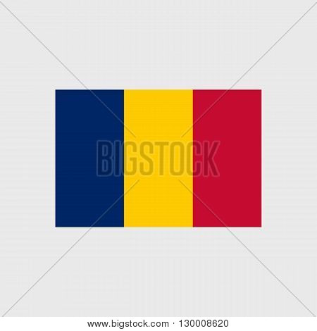 Set   vector icons with flag   Republic   Chad
