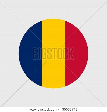 vector icon with flag   Republic   Chad