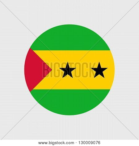 vector icon with Sao Tome and Principe flag