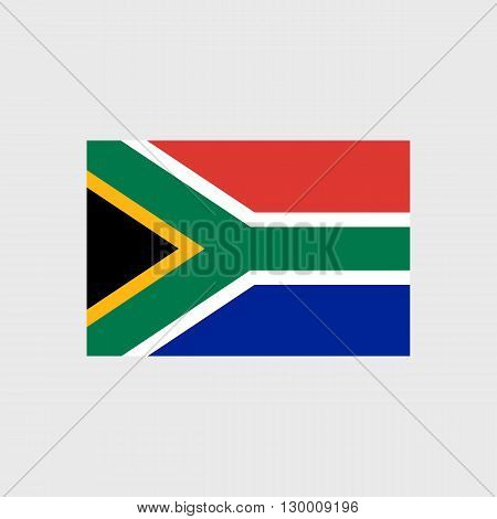 Set   vector icons with South Africa flag