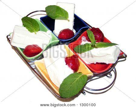 Icecream With Strawberry