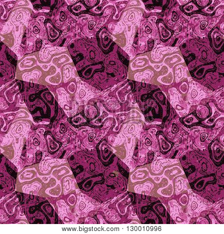 Abstract pink and purple mottled pattern with veined marble structure