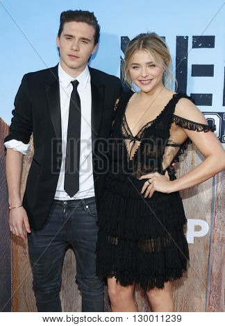 Brooklyn Beckham and Chloe Grace Moretz at the Los Angeles premiere of 'Neighbors 2: Sorority Rising' held at the Regency Village Theatre in Westwood, USA on May 16, 2016.