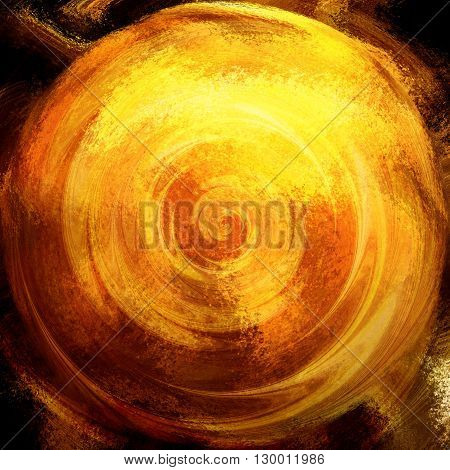 Abstract gold and red rotating background with concentric circles